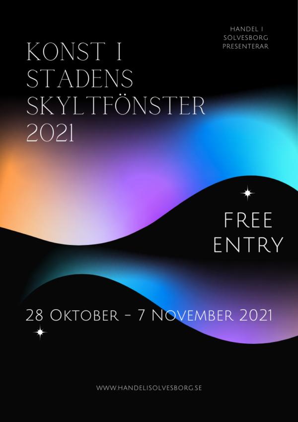 Konst i stadens skyltfönster 28 oktober – 7 november 2021
